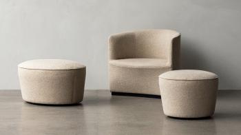 Menu designové stoličky Cairn Pouf (průměr 60 cm)