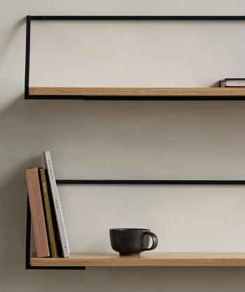 Menu designové police Rail Shelf
