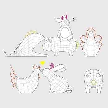 Seletti designové mísy Fantastico Domestico Penguin