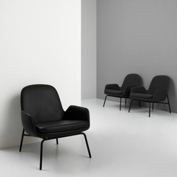 Normann Copenhagen designová křesla Era Footstool Steel Base
