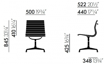 Vitra designové židle Aluminium Chair EA 101