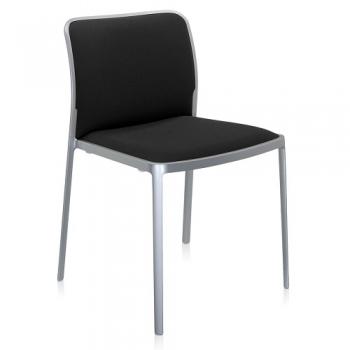 Kartell designové židle Audrey soft matný hliník