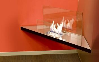Radius designové krby Corner Flame I 1,7l