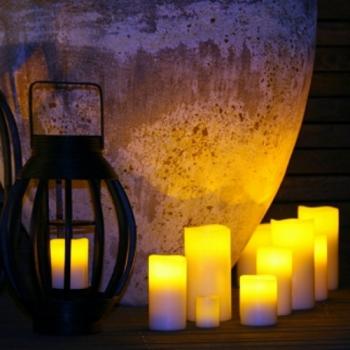 KLEIN & MORE Designové stolní lampy Electronic candle white
