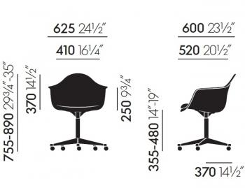 Vitra designové kancelářské židle Eames Plastic Armchair (PACC)
