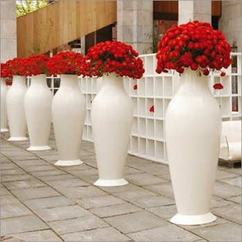 Výprodej Kartell designové vázy Miss Flower Power (bílá)