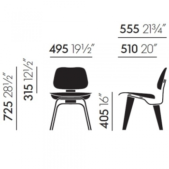 VITRA židle DCW