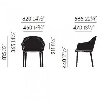 Výprodej Vitra designové židle Softshell Chair (Aura papirus)