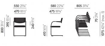 Výprodej Vitra designové konferenční židle Visavis 2 (černá/ chrom)
