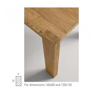 SEDIT jídelní stoly Bio (130 x 77 x 130 cm)