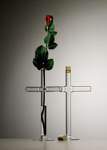 QUBUS vázy Cross Vase