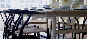 Výprodej Carl Hansen designové židle Ch24 Wishbone Chair (buk, bílý lakovaný)