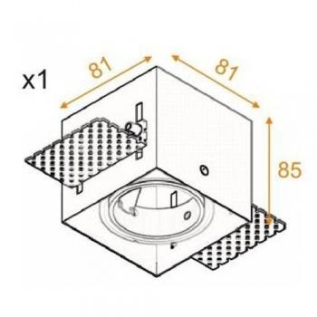 Výprodej Aquaform vestavná svítidla Squares 50x1 (bílá)