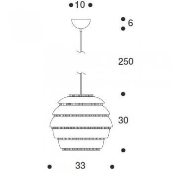 ARTEK závěsné svítidlo A331 PENDANT LAMP