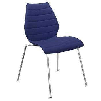 Výprodej Kartell designová židle Maui (bílá skořepina, podnož chrom)