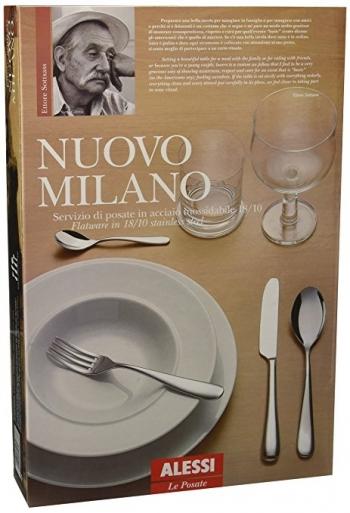 Alessi designové příbory Nuovo Milano (5 kusů, set pro 1 osobu)