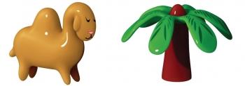 Alessi designové figurky Dario Dromedario and Palmita