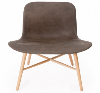 Norr 11 designová křesla Langue Original Lounge chair Leather