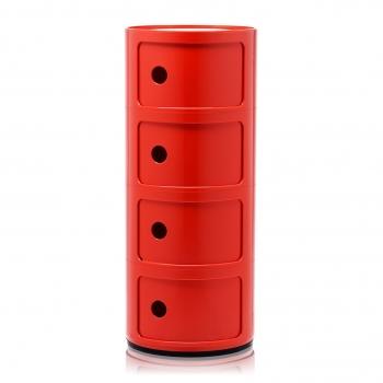 Výprodej Kartell designové stolky Componibili (výška 58,5 cm, černá)