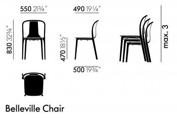 Vitra designové židle Belleville Chair