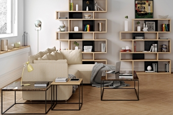 Výprodej Pop-Up-Home designové konferenční stoly Gleam 120 (dýha dubová/ podnož černá)