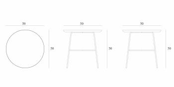 Ethnicraft designové odkládací stolky Disc Side Table - Round