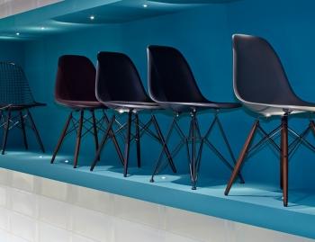 Výprodej Vitra designové židle DKW (černá)