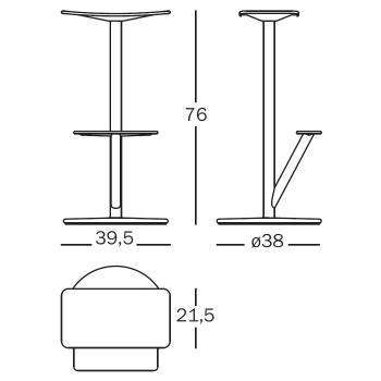 Magis designové barové židle Sequoia 66