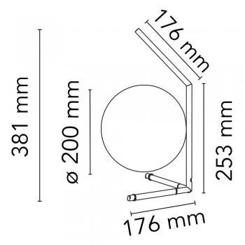 Flos designové stolní lampy IC Lights Table 1 Low