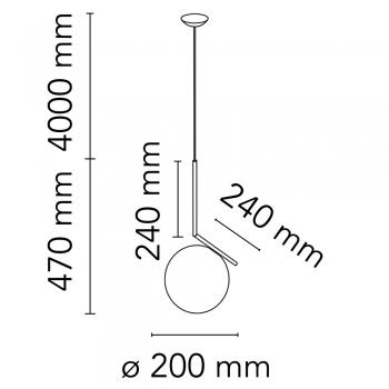 Flos designová závěsná svítidla IC Lights Suspension S1