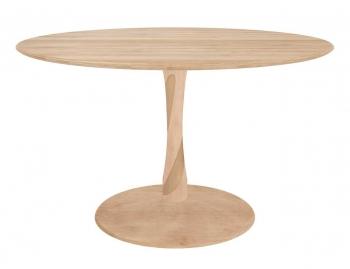 Výprodej Ethnicraft designové jídelní stoly Torsion Dinning Table (černá, Ø 127 cm)