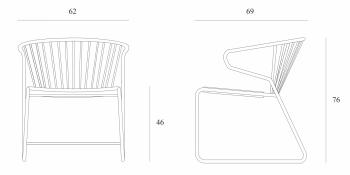 Ethnicraft designová křesla Gabbia
