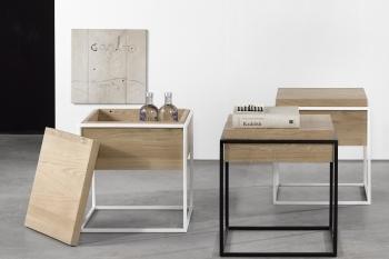 Ethnicraft designové odkládací stolky Monolit Side Table - S