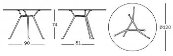 Magis designové jídelní stoly Officina Tavolo Round