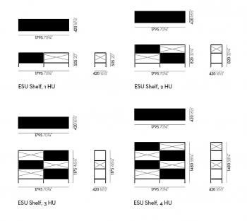 Vitra designové regály ESU 1HU