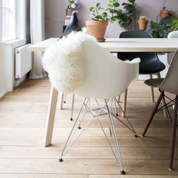 Výprodej Vitra designové židle DAR (modrá s čalouněným sedákem/ chrom)
