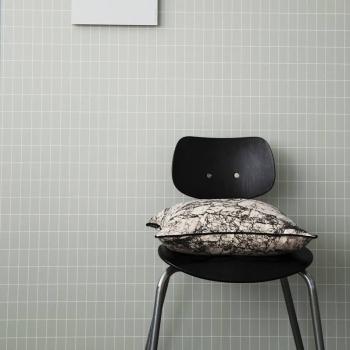 Výprodej Ferm Living designové tapety Grid Dusty Green