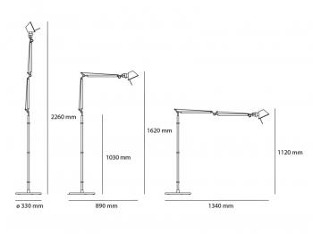 Artemide designové stojací lampy Tolomeo Terra