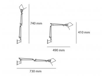 Artemide designová nástěnná svítidla Tolomeo Micro Parete