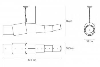 Artemide designová závěsná svítidla Noto