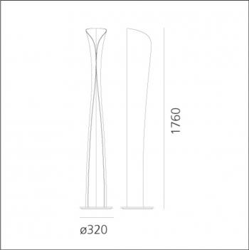 Artemide designové stojací lampy Cadmo Terra
