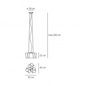 Artemide designová závěsná svítidla Logico Mini Sospensione 3 x 120