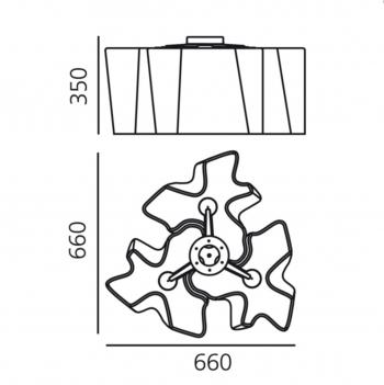 Artemide designové stropní svítidla Logico Micro Soffitto 3 x 120