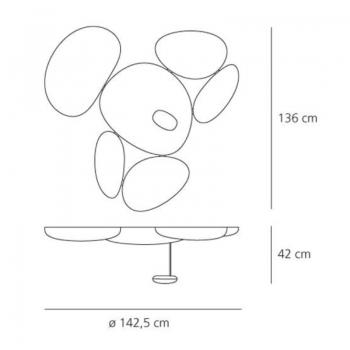 Artemide designová stropní svítidla Skydro