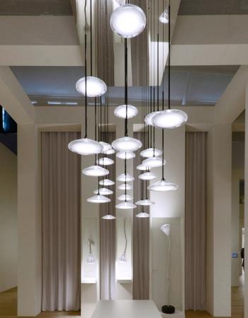 Artemide designové závěsné lustry Orsa Cluster 3