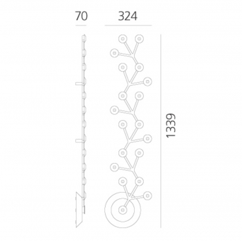 Artemide designová stropní svítidla Led Net Line Soffitto 125