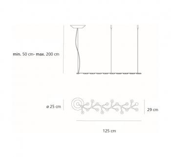 Artemide designová závěsná svítidla Led Net Line Sospensione 66