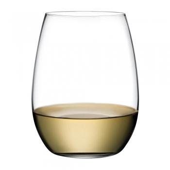 Nude designové sklenice na bílé víno Pure
