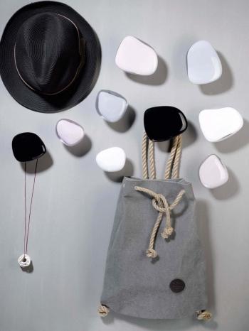 Nude designové nástěnné věšáky Pebbles Small