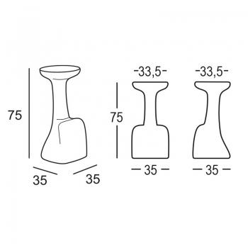 Výprodej Plust designové barové židle Armillaria Stool (Šedá)